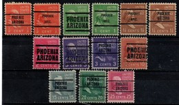 """USA Precancel Vorausentwertung Preo, Locals """"PHOENIX"""" (ARZ). 13 Différents. - United States"""