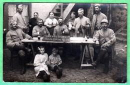 PETITE SYNTHE - LES AMIS REUNIS - CARTE PHOTO - 2 SCANS - Autres Communes