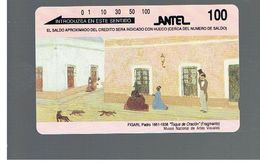 URUGUAY -   1993 FIGARI PAINTING                                          - USED  -  RIF. 10458 - Uruguay