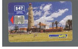 URUGUAY -   1999 LIGHTHOUSE PUNTA DEL ESTE                    - USED  -  RIF. 10459 - Uruguay