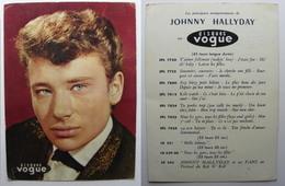 Johnny Hallyday Disques Vogue Carte Grand Format 13x18 Cms Photo Recto Verso - Chanteurs & Musiciens