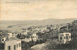 Italian Cruisers Leaving Beirut - Libanon
