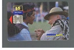 URUGUAY -   1999 CREOLE WEEK: GAUCHOS                  - USED  -  RIF. 10460 - Uruguay