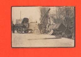 Trattrice Al Recupero Di Camion Fiat 18 BL Nel Fosso Militari Regio Esercito Foto Anni '20 - Guerra, Militari