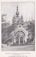 PARIS EXPOSITION 1900  Pavillon De La Commission Des ARDOISIERES D' ANGERS Larivière & Cie - Mostre
