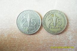 Lot De Deux(2) Monnaies;Afrique De L'Ouest /2007 Et 2011 En TTB+ - East Africa