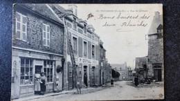 CPA 22 Cotes D'Armor MATIGNON RUE SAINT GERMAIN Commerces En Premier Plan  Animée Ecrite 1916 - Otros Municipios