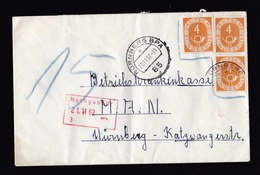 Germany: Cover, 1962, 3 Stamps, Posthorn Stamps Invalid, Postage Due, Taxed, Uncommon (minor Damage, See Scan) - Storia Postale