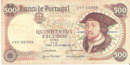 PORTUGAL Portuguese 500 Escudos 1979 - Portogallo