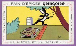 Buvard Gringoire Pain D Epices - Le Lievre Et La Tortue N° 1 - Aventure De Gringo - Gingerbread