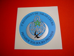 AUTOCOLLANT / 1ER REGIMENT DE TIRAILLEURS - Unclassified