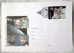 Bulgaria 2011. Dogs Cosmonauts. Prestamped Cover. First Day Cancellation Plovdiv - Interi Postali