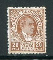 TURQUIE- Taxe Y&T N°69- Neuf Sans Charnière ** - 1921-... République