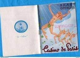 """Programme """"CASINO DE PARIS""""danseuses Nues-illustration  Saunier+ Avec Tous Les Acteurs Photos-24 Pages Années  50 - Programs"""