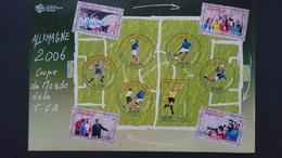 COUPE U MONDE DE FOOTBALL 2006 EN ALLEMAGNE - BF 97 - Y&T 3906 3907 3908 3909 3910 3911 3912 3913 3914 3915 - Blocs & Feuillets