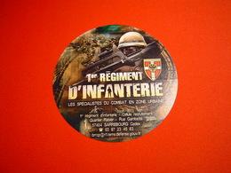 AUTOCOLLANT / 1ER RI / 1ER REGIMENT D'INFANTERIE - Unclassified