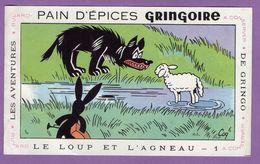 Buvard Gringoire Pain D Epices - Le Loup Et L Agneau   N° 1- Aventure De Gringo - Plié A Gauche - Gingerbread