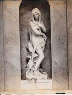 GENOVA -Photo Albumine Ca.1880 - A.NOACK GENOVA N° 3169 COMPOSANTO  EVA  (GB VILLA  1878)  Statue De Cimetière - Oud (voor 1900)
