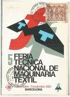 BARCELONA 1970 FERIA DE MAQUINARIA TEXTIL - Textiles