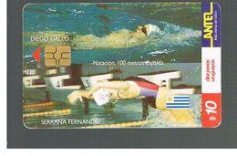 URUGUAY -   1999 OLYMPIC SPORT: SWIMMING        - USED  -  RIF. 10461 - Uruguay