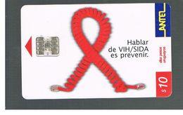 URUGUAY -   2001 ANTI AIDS      - USED  -  RIF. 10462 - Uruguay
