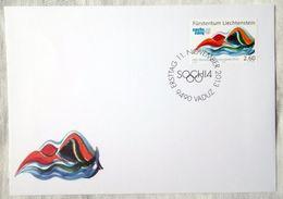 Liechtenstein 2013. MiNr. 1699. XXII Winter Olympic Games In Sochi. FDC - Inverno 2014: Sotchi