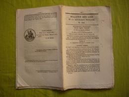 Bulletin Des Lois N° 346 1850 Relatif à L'assistance Judiciaire Aux Indigents - Decreti & Leggi