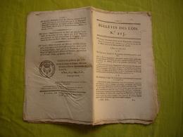 Bulletin Des Lois N° 215 1818 Relatif à L'engagement Volontaire Dans Tous Les Corps D'armée De Terre - Decreti & Leggi