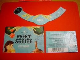 ETIQUETTE BIERE / MORT SUBITE / WHITE LAMBIC / BELGIQUE - Bière