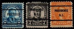 "USA Precancel Vorausentwertung Preo, Locals ""PROVIDENCE"" (RI). 3 Différents. - United States"