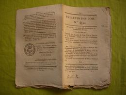 Bulletin Des Lois N° 452 1821 Relatif à La Circonscription Des Arrondissements électoraux Tous Départements - Decreti & Leggi