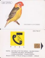 382/ Tanzania; P16. Fischer's Lovebird - Thin Name, Reverse B, 2nd Issue, GEM 6.2 - Tanzania