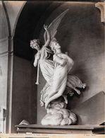 GENOVA -Photo Albumine Ca.1880 -A.NOACK GENOVA N° 3151 -CAMPOSANTO MON.R.PIAGGIO (F.FABIANI 1876) Statue Funéraire,ange - Oud (voor 1900)