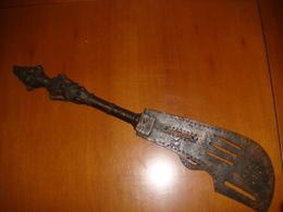 Accessorio Antico In Bronzo Per Guerriero Benin Nigeria - Arte Africano