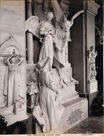 GENOVA -Photo Albumine Ca.1900 -A.NOACK GENOVA N° 8355 -CAMPOSANTO MON. L.PASTORINI -G.NAVONE Statue Funéraire,ange,reli - Oud (voor 1900)