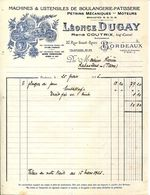 33.BORDEAUX.MACHINES & USTENSILES DE BOULANGERIE & PATISSERIE.LEONCE DUGAY 37 RUE SAINT REMI. - Non Classés
