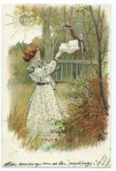 Greetings Card Embossed Posted 1905 From Jersey To Plymouth - Greetings From...
