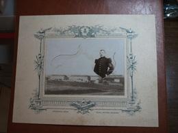 Photographie Sur Carton - Soldat 56ème Régiment D'Infanterie Basé à Epinal (88) + Caserne - Photo Scherr à Epinal - Krieg, Militär