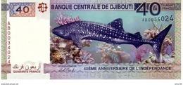 Djibouti P.new 40  Francs 2017  Unc Commemorative - Djibouti