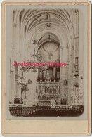 Vers 1880-Grand CDV (CAB)  Intérieur Basilique à Saint Anne D'Auray-Morbihan Bretagne--TB état - Anciennes (Av. 1900)