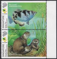 SINGAPORE 2000, Wetland Wildlife - Kingfishes - Booklet Pair MNH - Singapur (1959-...)