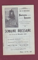 080218A REGIONALISME Ville De BOURG EN BRESSE 1923 - SEMAINE BRESSANE ébaudes - Folklore - Rhône-Alpes