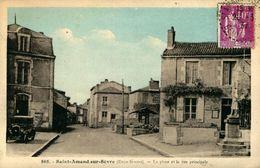SAINT-AMAND-SUR-SEVRE La Place Et La Rue Principale - France