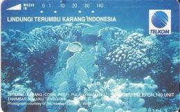 TARJETA TELEFONICA  DE INDONESIA. CORAL MARINO (009) - Indonesia