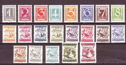 AUSTRIA AUTRICHE OSTERREICH 1925 MNH** SOGGETTI DIVERSI Mi 447/467 ZIFFERNSERIE - Ungebraucht