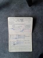 Certificat De Vaccination  Cie Navigation Paquet Paquebot Djenné  Rockfeller Fondation  Multiple Tampon - Boats