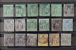 France - Lot De Sage Type II - 1876-1898 Sage (Type II)
