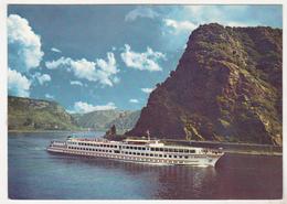 Germany Old Used Postcard - Passenger Ship - MS Britannia - Barche