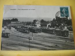 71 1637 - CHAGNY - VUE-D ' ENSEMBLE DE LA GARE - 1912 - TRAINS - Chagny