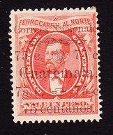 Guatemala, Scott #28b, Mint Hinged, Barrios Surcharged, Issued 1886 - Guatemala